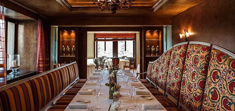 Christmas at the Restaurant Da Vittorio - St. Moritz
