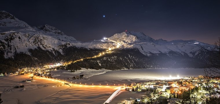 Snow Night Corvatsch