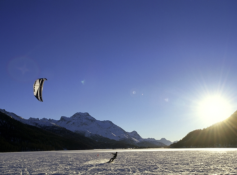 Snowkiting: the dream of flying
